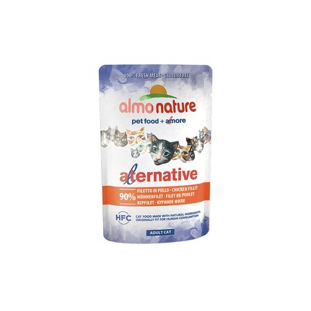 Almo Nature Almo Nature Alternative Adult Cat Chicken Fillet паучи для кошек с куриным филе - 55 г alternative® поло