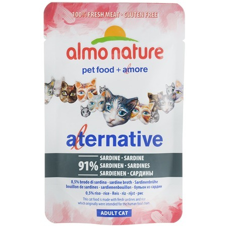Almo Nature Almo Nature Alternative Adult Cat Sardines alternative® поло