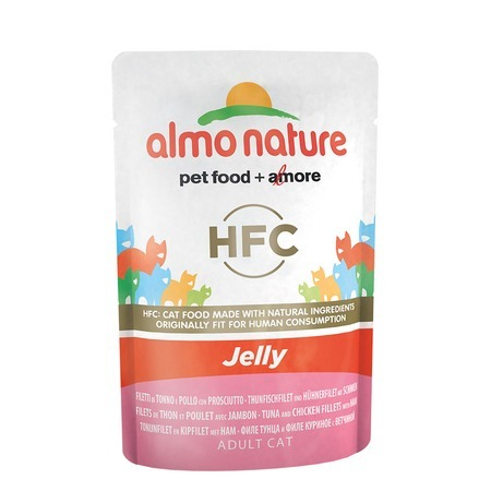 Almo Nature Almo Nature Classic Adult Cat Nature Jelly Tuna, Chicken & Ham все цены