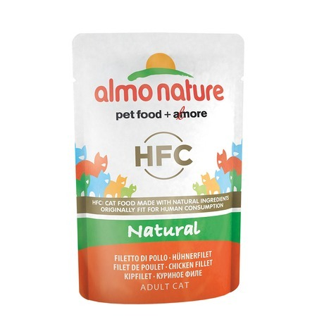 лучшая цена Almo Nature Almo Nature Classic Nature Adult Cat Chicken Fillet 55 г х 24 шт