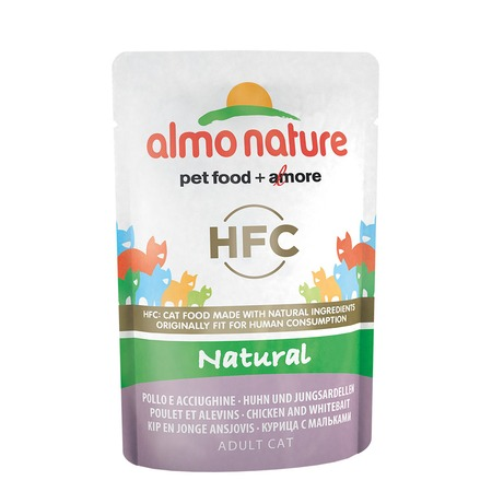 Almo Nature Almo Nature Classic Nature Adult Cat Chicken & White Bait 55 г х 24 шт almo nature almo nature home made adult dog chicken with carrots and rice 280 г х 12 шт