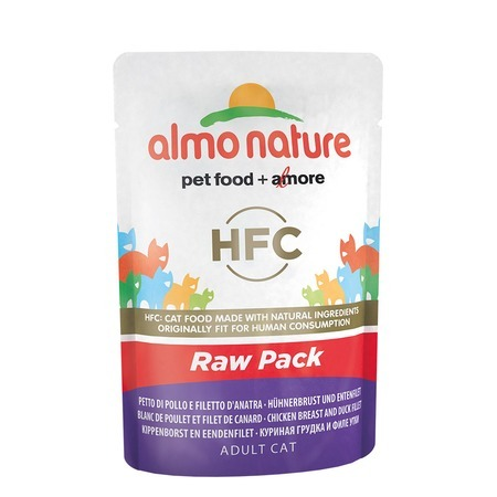 лучшая цена Almo Nature Almo Nature Classic Raw Pack Adult Cat Chicken Breast & Duck Fillet