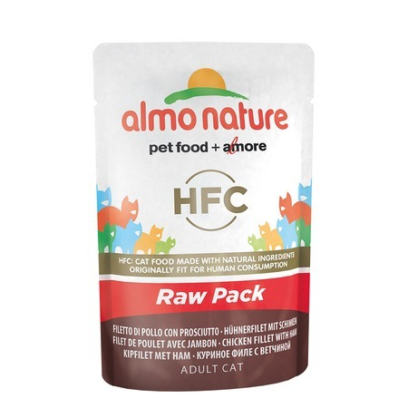 цена на Almo Nature Almo Nature Classic Raw Pack Adult Cat Chicken Fillet with Ham