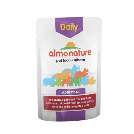 Almo Nature Almo Nature Daily Menu Adult Cat Chicken & Duck 70 г х 30 шт almo nature almo nature daily menu adult cat veal