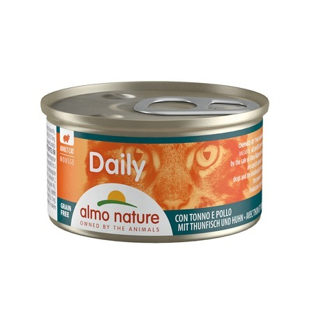 Almo Nature Almo Nature Daily Menu Adult Cat Mousse Tuna & Chicken 85 г х 24 шт almo nature almo nature daily menu adult cat mousse lamb 85 г х 24 шт