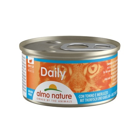 Almo Nature Almo Nature Daily Menu Adult Cat Mousse Tuna & Cod 85 г х 24 шт almo nature almo nature daily menu adult cat veal