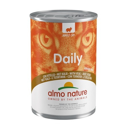 Almo Nature Almo Nature Daily Menu Adult Cat Veal 400 г х 24 шт almo nature almo nature daily menu adult cat veal