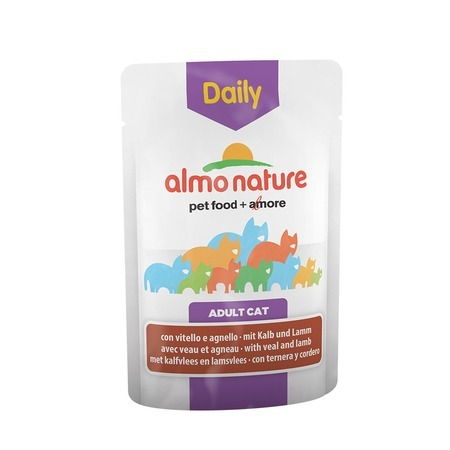 Almo Nature Almo Nature Daily Menu Adult Cat Veal & Lamb 70 г х 30 шт almo nature almo nature daily menu adult cat veal