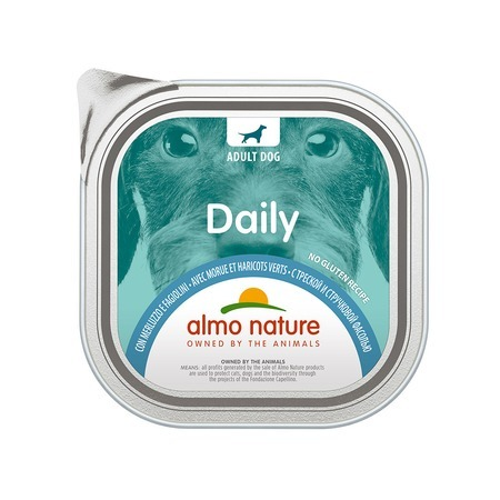 Almo Nature Almo Nature Daily Menu Adult Dog Cod & Green Beans 300 г х 9 шт almo nature almo nature daily menu adult cat veal