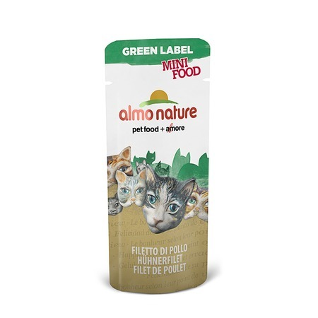 цена на Almo Nature Almo Nature Green Label Cat Mini Food Chicken Fillet 3 г