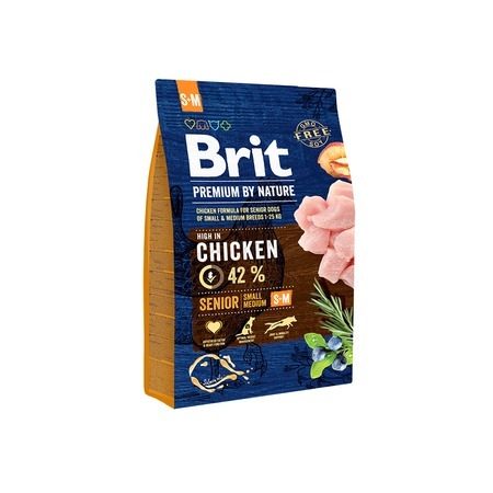Brit Brit Premium by Nature Senior S+M сухой корм для пожилых собак мелких и средних пород с курицей - 3 кг 12v mini car amplifier motorcycle home boat auto stereo audio amplifier 2 channel digital hi fi amp support cd dvd mp3 speaker