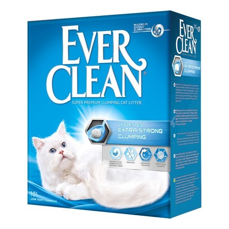 Ever Clean Наполнитель Ever Clean Extra Strong Clumping Unscented комкующийся без ароматизатора