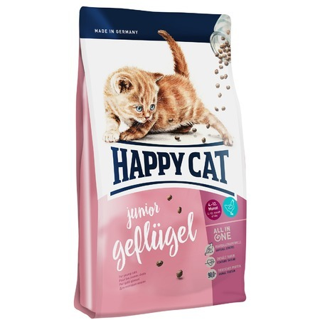 Happy Cat Сухой корм Happy Cat Supreme Junior Geflugel для молодых кошек с домашней птицей happy cat сухой корм happy cat la cuisine для кошек с уткой
