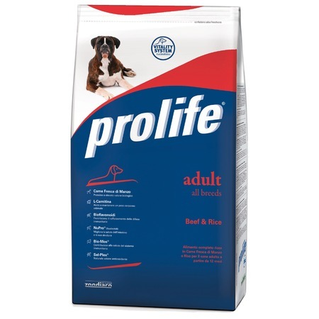 Prolife Prolife Dog Adult сухой корм для собак с говядиной и рисом - 800 г ярмарка рис круглозерный 800 г