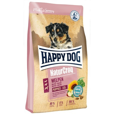 Happy Dog Сухой корм Happy Dog Premium NaturCroq Welpen Puppies для щенков с птицей - 4 кг happy dog сухой корм happy dog supreme fit