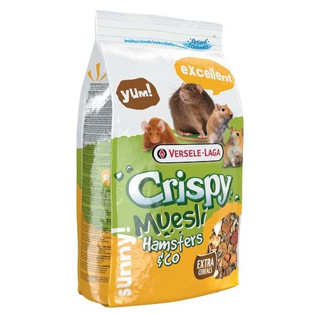 Versele-Laga Versele-Laga корм для хомяков и других грызунов Crispy Muesli Hamsters & Co 400 г корм родные корма для хомяков 400 г стандарт