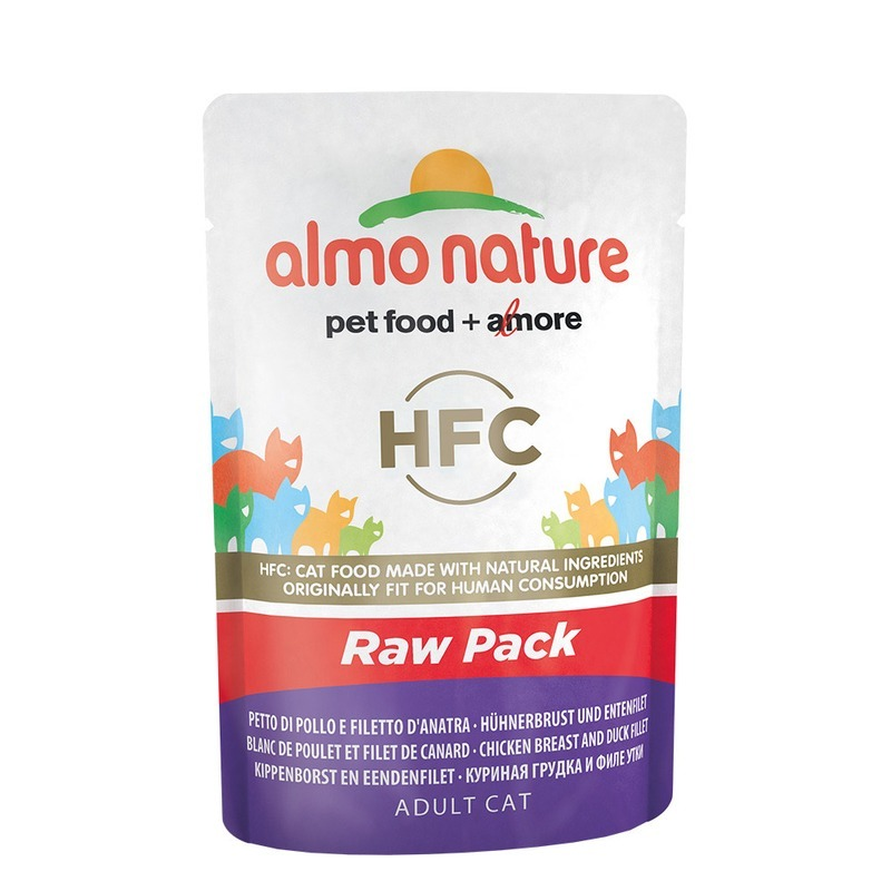 Almo nature Almo Nature Classic Raw Pack Adult Cat Chicken Breast & Duck Fillet almo nature almo nature classic adult cat chicken