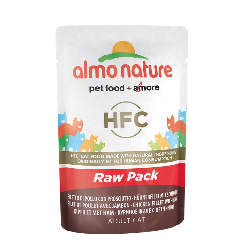 Almo Nature Almo Nature Classic Raw Pack Adult Cat Chicken Fillet with Ham almo nature almo nature classic adult cat chicken