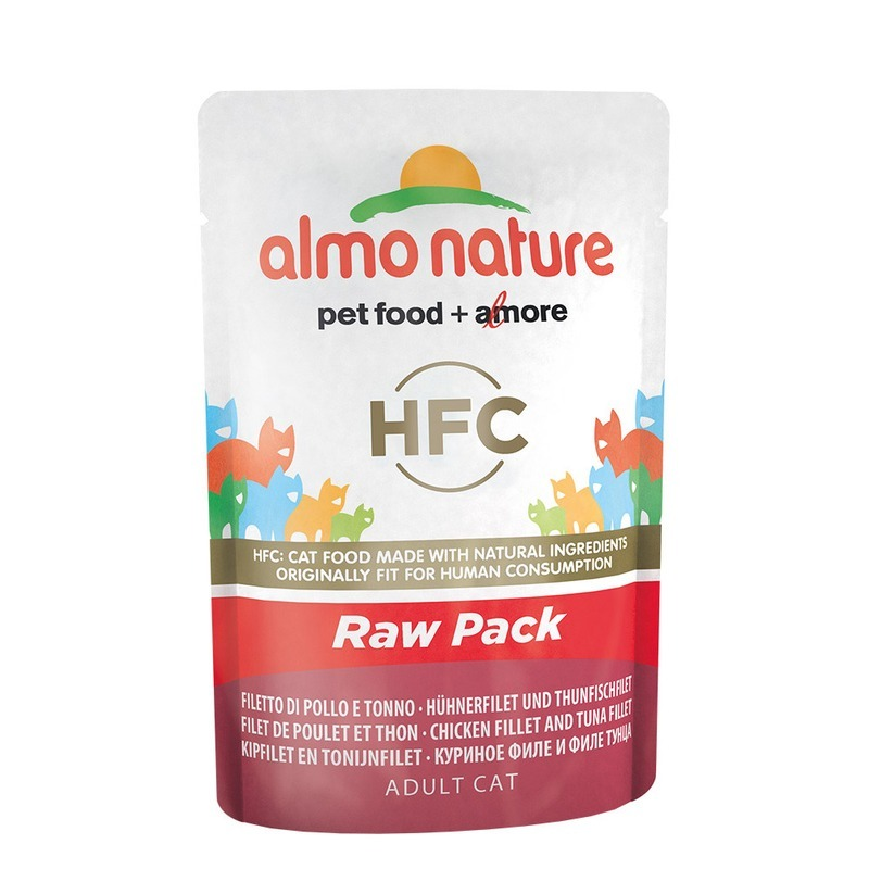 Almo nature Almo Nature Classic Raw Pack Adult Cat Chicken & Tuna Fillets 55 г х 24 шт almo nature almo nature classic adult cat chicken
