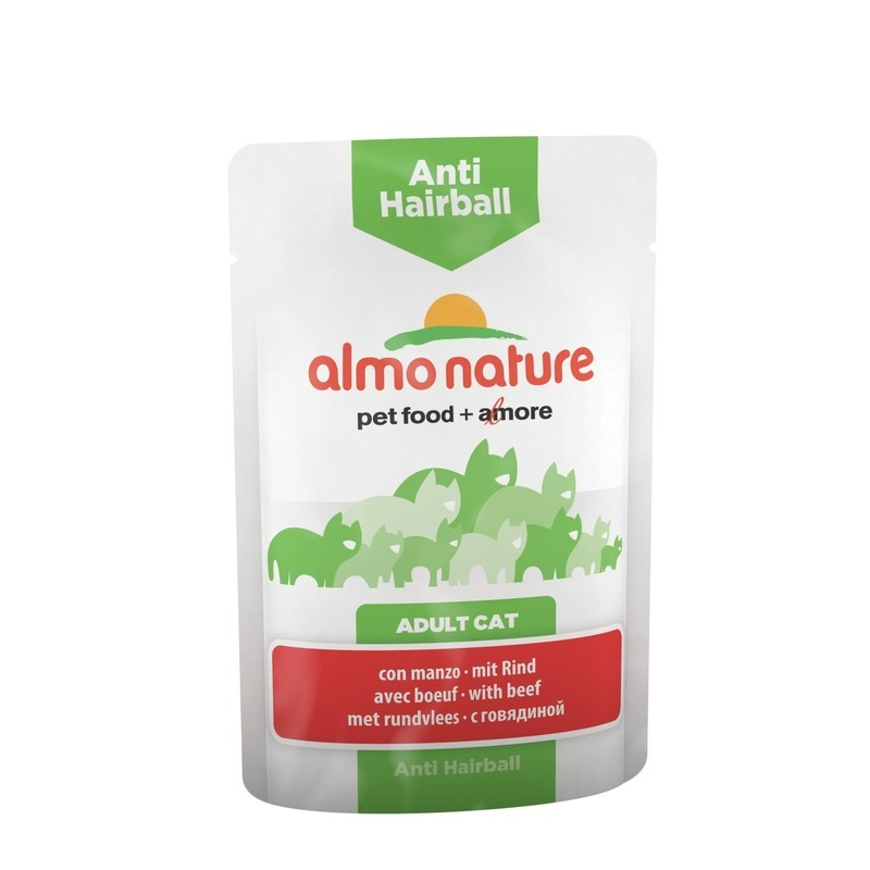 Almo Nature Almo Nature Functional Adult Cat Anti-Hairball with Beef wet food felix nature taste for adult cats with beef 24 pouch x 85 g