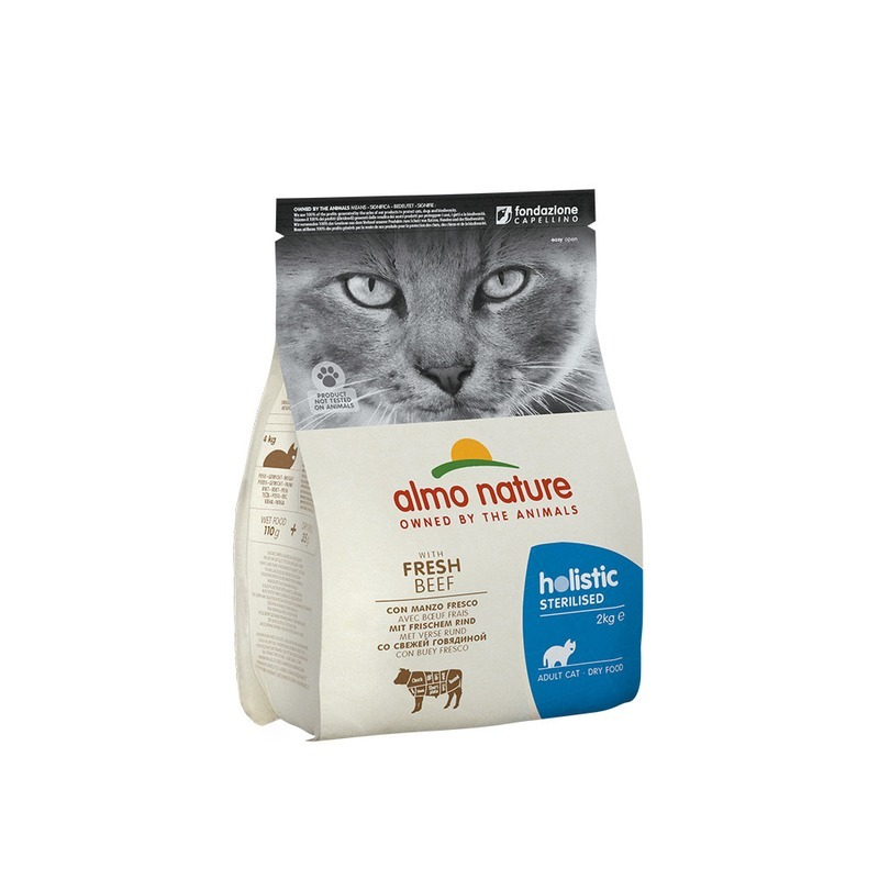 Almo Nature Almo Nature Functional Adult Cat Sterilised Beef & Rice 2 кг wet food felix nature taste for adult cats with beef 24 pouch x 85 g