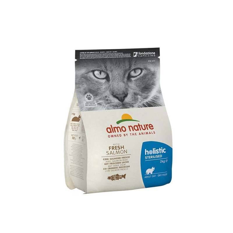 Almo nature Almo Nature Functional Adult Sterilised Salmon and Rice - 2 кг влажный корм для кошек almo nature classic adult cat with salmon and pumpkin 0 055 кг