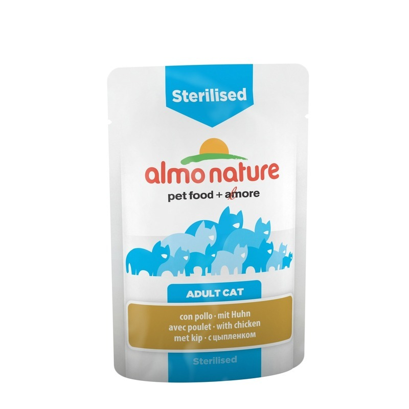 Almo Nature Almo Nature Functional Adult Cat Sterilised with Chicken wet food felix nature taste for adult cats with beef 24 pouch x 85 g