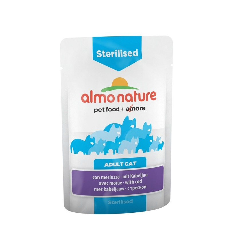 Almo Nature Almo Nature Functional Adult Cat Sterilised with Code wet food felix nature taste for adult cats with beef 24 pouch x 85 g