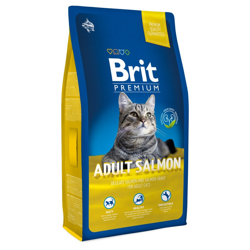 цена на Brit Brit Premium Cat Adult Salmon - 1,5 кг