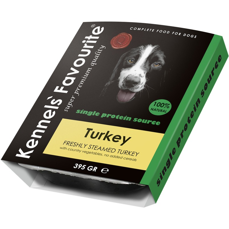 KENNELS FAVOURITE Влажный корм Kennels` Favourite 100% Turkey для собак с индейкой - 395 г