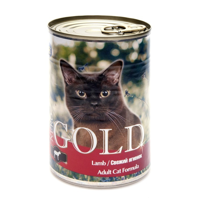 NERO GOLD Nero Gold Adult Cat Formula Lamb 810 г х 12 шт