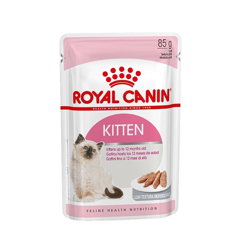 ROYAL CANIN Royal Canin Kitten влажный корм для котят в паучах паштет 12 шт х 85 г cat wet food royal canin kitten sterilized kitches for kittens pieces in jelly 24 85 g