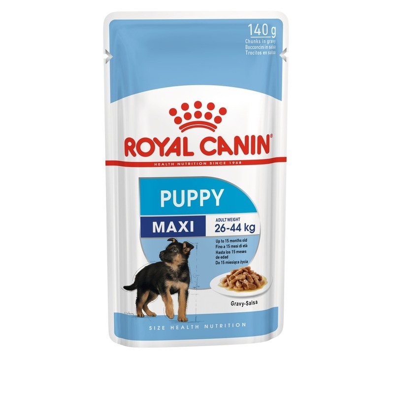 Royal Canin Влажный корм Royal Canin Maxi Puppy для щенков крупных пород - 140 г dog food royal canin maxi digestive care 15 kg