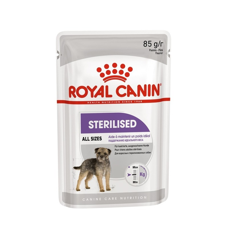 ROYAL CANIN Влажный корм Royal Canin Sterilized для стерилизованных собак - 85 г cat wet food royal canin kitten sterilized kitches for kittens pieces in jelly 24 85 g